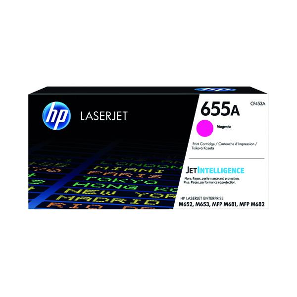 HP 655A Magenta Original LaserJet Toner Cartridge CF453A