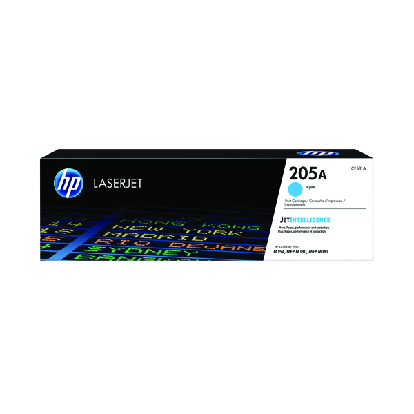HP 205A Original Cyan LaserJet Toner Cartridge CF531A