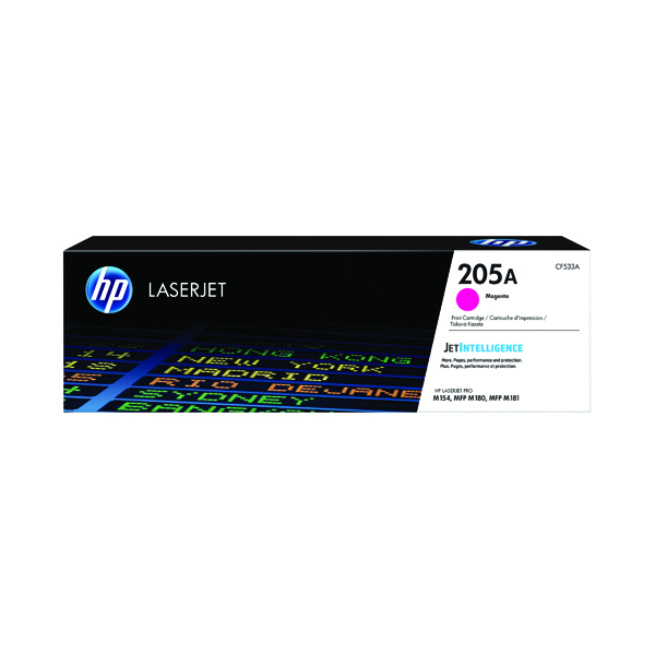 HP 205A Original Magenta LaserJet Toner Cartridge CF533A