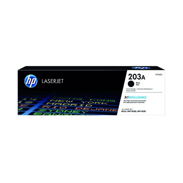 HP 203A Original Black LaserJet Toner Cartridge CF540A