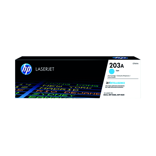 HP 203A Original Cyan LaserJet Toner Cartridge CF541A