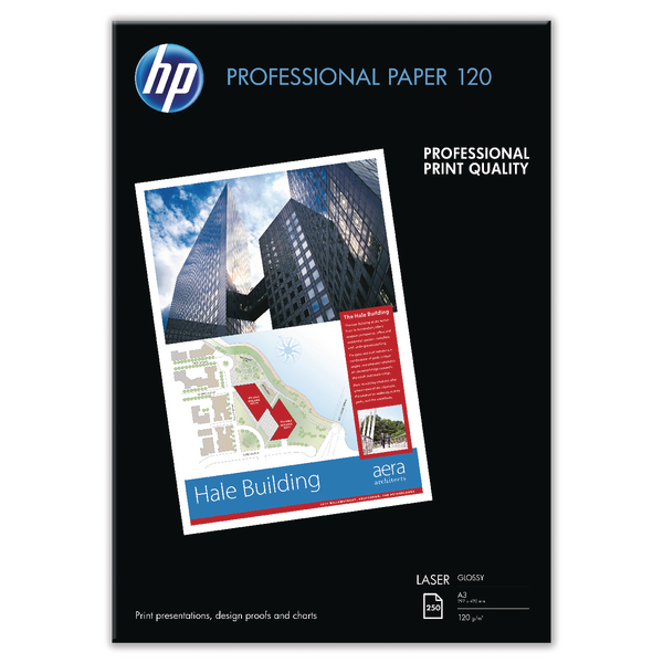 HP White A3 Professional Glossy Laser Paper (Pack of 250) CG969A