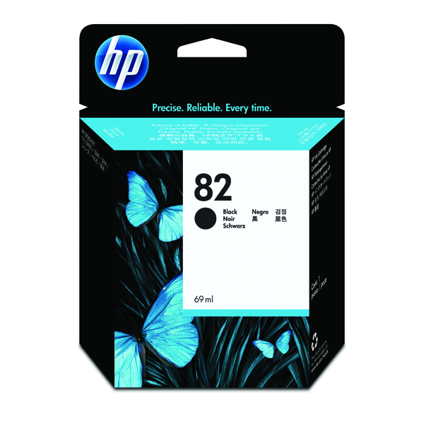 HP 82 High Yield Black Inkjet Cartridge CH565A