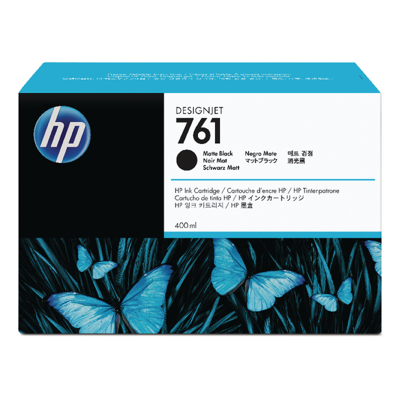 HP 761 Matte Black Designjet Inkjet Cartridge CM991A