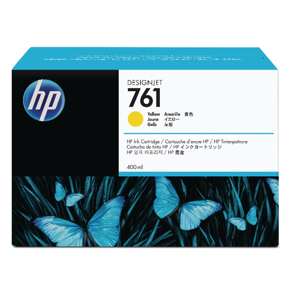 HP 761 Yellow Designjet Inkjet Cartridge CM992A