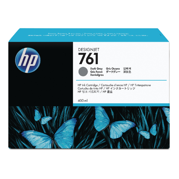 HP 761 Dark Grey Designjet Inkjet Cartridge CM996A