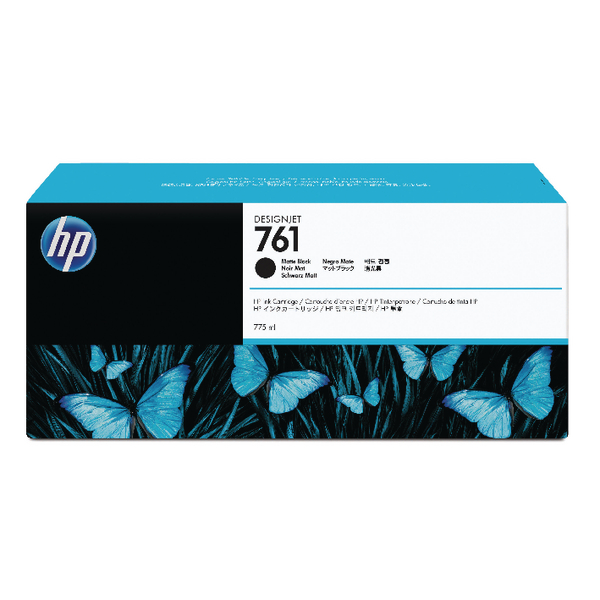 HP 761 Matte Black Designjet Inkjet Cartridge CM997A
