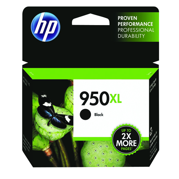 HP 950XL Black Officejet Inkjet Cartridge (2300 page capacity) CN045AE