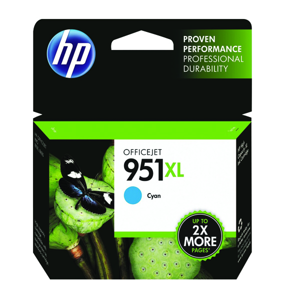HP 951XL Cyan Officejet Inkjet Cartridge (Capacity: 24ml) CN046AE
