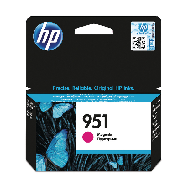 HP 951 Magenta Inkjet Cartridge CN051AE