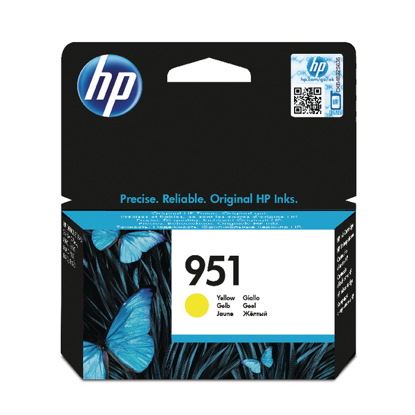 HP 951 Yellow Inkjet Cartridge CN052AE