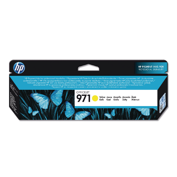 HP 971 Yellow Officejet Ink Cartridge CN624AE