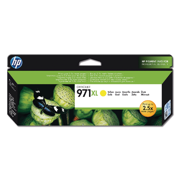 HP 971XL Yellow Officejet Ink Cartridge CN628AE