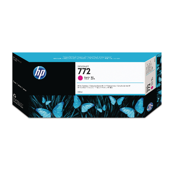 HP 772 Magenta Designjet Inkjet Cartridge (Capacity: 300ml) CN629A