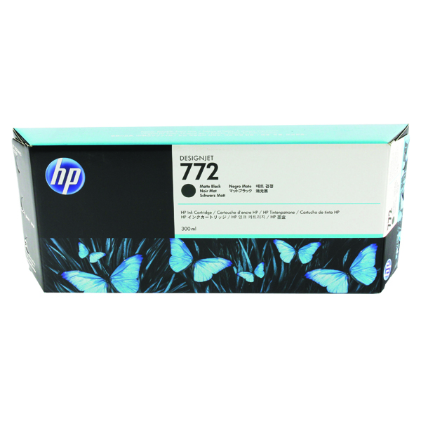 HP 772 Matte Black Designjet Inkjet Cartridge CN635A