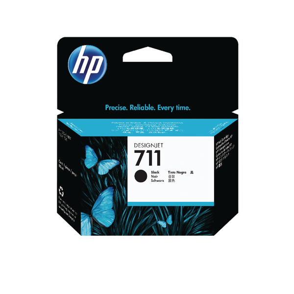 HP 711 Black Inkjet Cartridge 80ml CZ133A