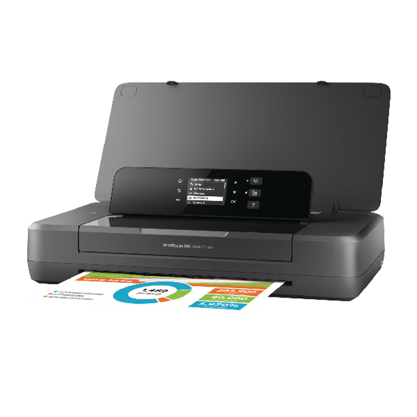 HP Officejet 200 Mobile Printer Black CZ993A