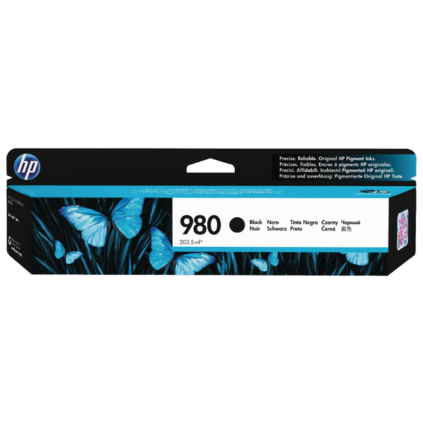 HP 980 Black Inkjet Cartridge (10,000 Page Capacity) D8J10A