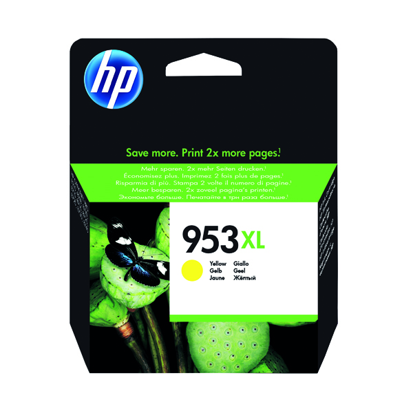 HP 953XL HY Ink Yellow Cartridge F6U18AE#BGX