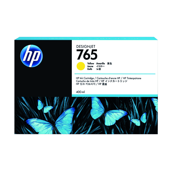 HP 765 Yellow Original Ink Cartridge F9J50A