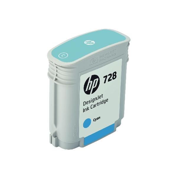 HP 728 DesignJet Ink Cyan Cartridge F9J63A