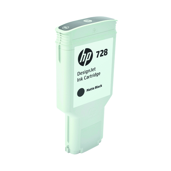 HP 728 DesignJet Matte Black Ink Cartridge 300ml F9J68A