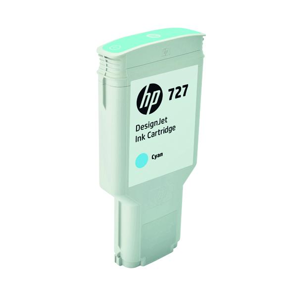 HP 727 DesignJet Cyan Ink Cartridge 300ml F9J76A