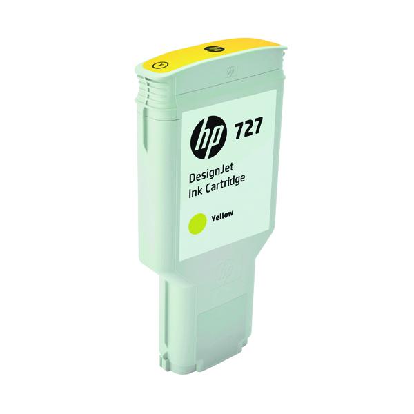 HP 727 DesignJet Yellow Ink Cartridge 300ml F9J78A