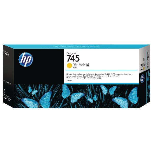 HP 745 DesignJet Ink Yellow Cartridge F9K02A