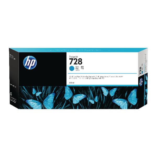 HP 728 Ink Cyan Cartridge (Standard Yield, 300ml) F9K17A#BGX