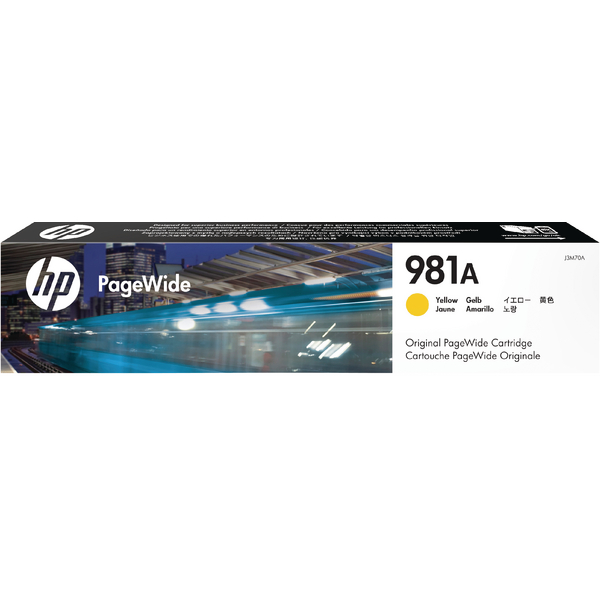 HP 981A PageWide Ink Yellow Cartridge J3M70A