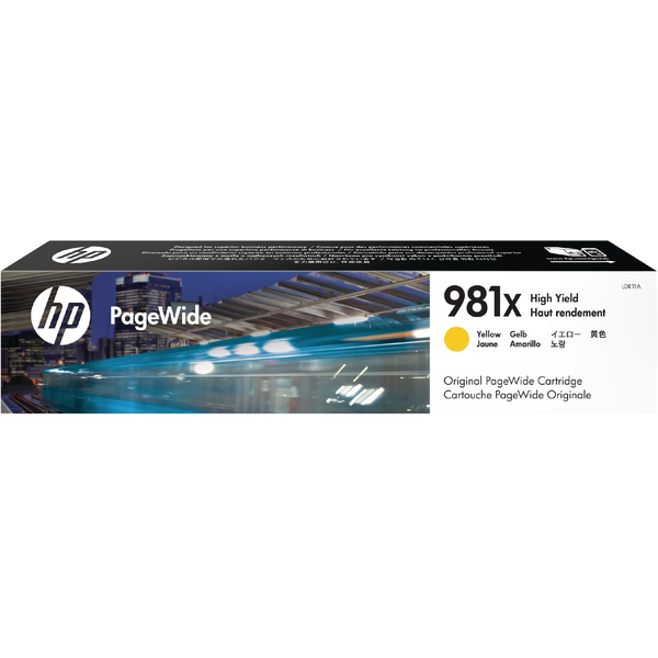 HP 981X PageWide HY Ink Yellow Cartridge L0R11A