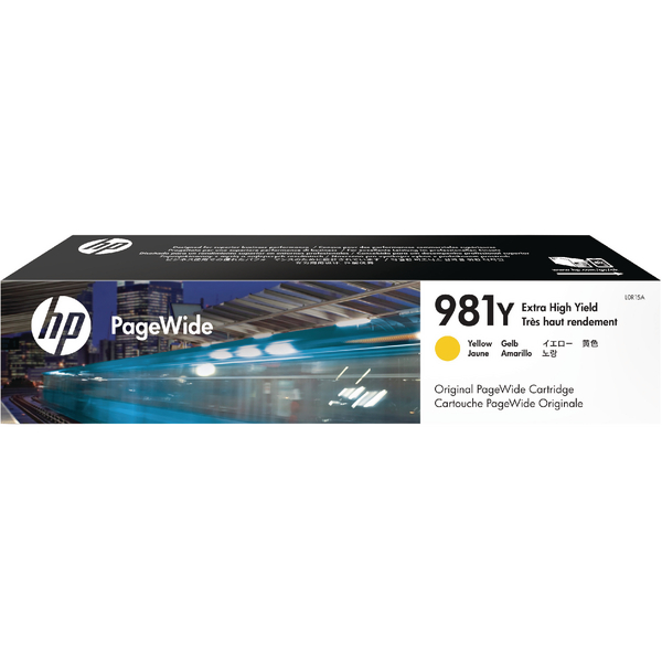 HP 981Y Extra High Yield PageWide Ink Yellow Cartridge L0R15A