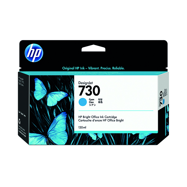 HP 730 130ml Cyan DesignJet Ink Cartridge (Capacity: 130ml) P2V62A