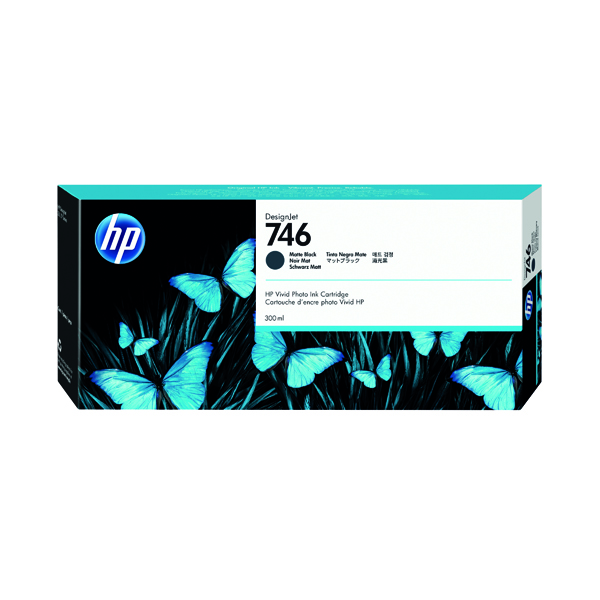 HP 746 300ml Matte Black Ink Cartridge P2V83A