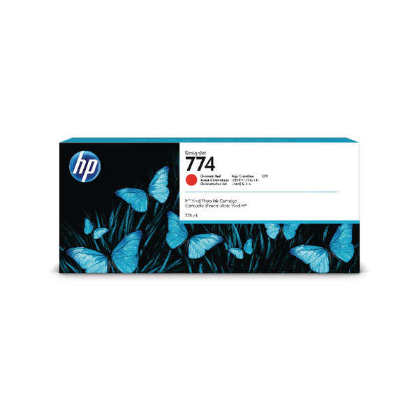 HP 774 775ml Chromatic Red Ink Cartridge (Capacity: 775ml) P2W02A