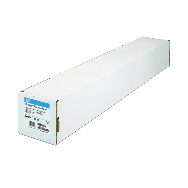 HP Bright White Inkjet Paper 841mm x45.7m (Quality 90 gsm paper, reduces amount of smear) Q1444A