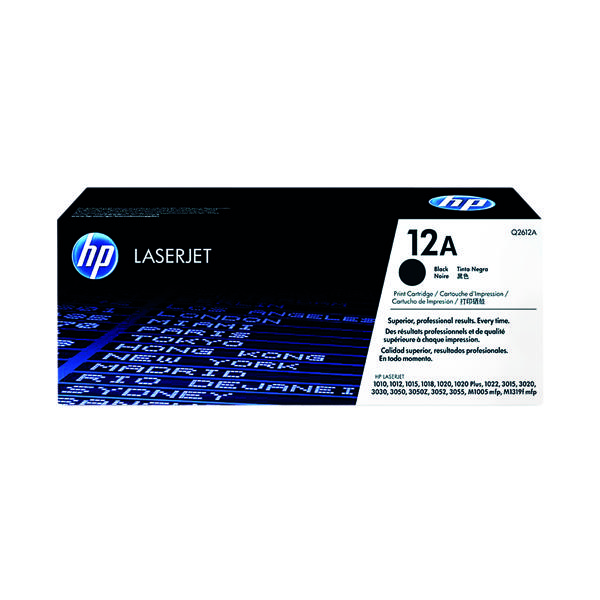 HP 12A Black Laserjet Toner Cartridge Q2612A