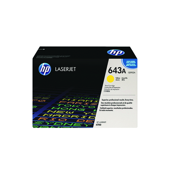 HP 643A Yellow Laserjet Toner Cartridge Q5952A
