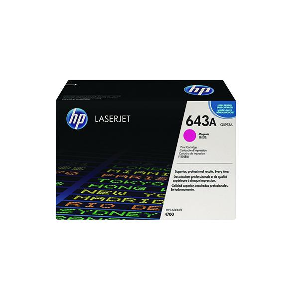 HP 643A Magenta Laserjet Toner Cartridge Q5953A