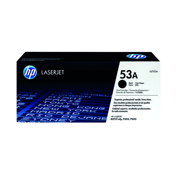 HP 53A Black Laserjet Toner Cartridge Q7553A