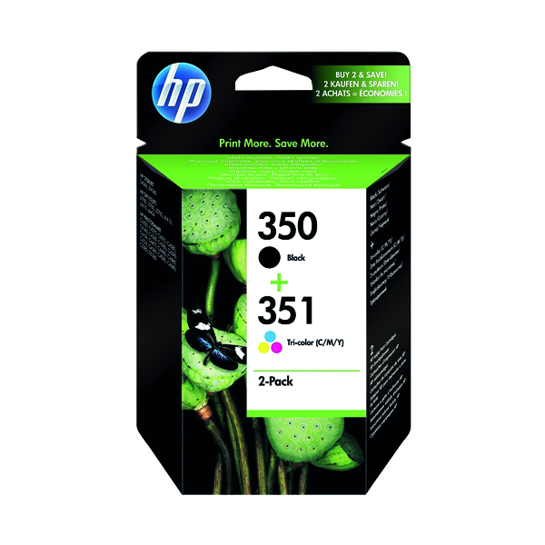 HP 350/351 Black /Cyan/Magenta/Yellow Ink Cartridges (Pack of 2) SD412EE