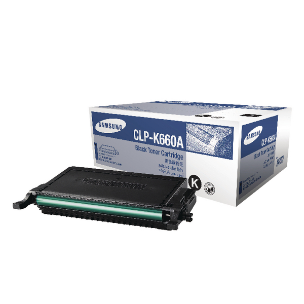 Samsung CLP-K660A Black Standard Yield Toner Cartridge ST899A