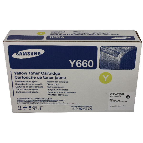 Samsung CLP-Y660A Yellow Standard Yield Toner Cartridge ST953A