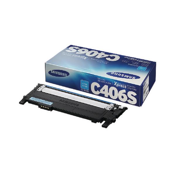 Samsung CLT-C406S Cyan Standard Yield Toner Cartridge ST984A