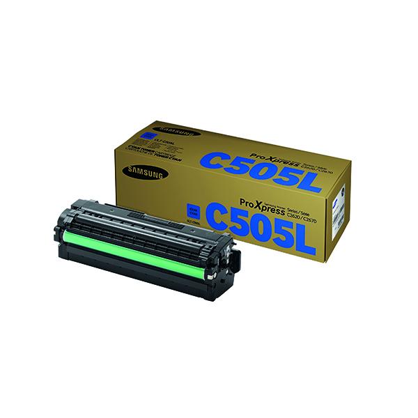 Samsung CLT-C505L High Yield Cyan Toner Cartridge SU035A