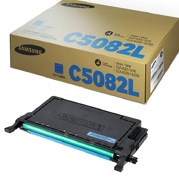 Samsung CLT-C5082L Cyan High Yield Toner Cartridge SU055A