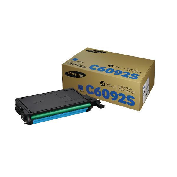 Samsung CLT-C6092S Cyan Standard Yield Toner Cartridge SU082A