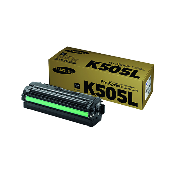 Samsung CLT-K505L High Yield Black Toner Cartridge SU168A