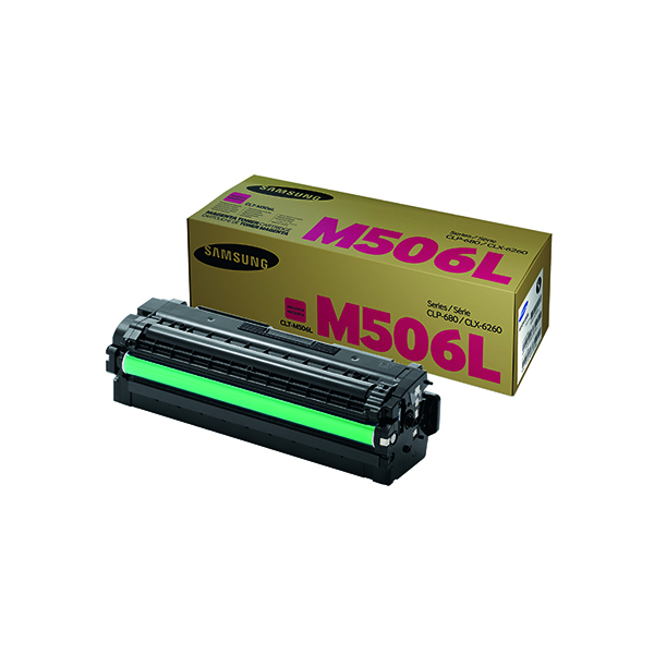 Samsung CLT-M506L Magenta High Yield Toner Cartridge SU305A